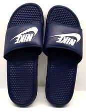 9f7375670a2 Nike Benassi JDI 343880-403 azul marino noche blanco nosotros tamaño 13 Envío  Gratis Nuevo