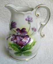 Porcelain Creamer 4 oz Violet Pattern Acme China Japan Vintage