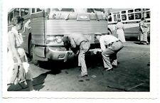 E365 Rp 1960s Greyhound Bus Putting The Bumper Back On + Negative