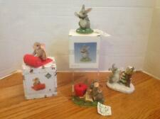 Lot 4 Charming Tails Figurines by Dean Griff Best Bunny Red Carpet Snow & More!
