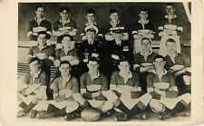 1926-27 Navy Team, RP, ???Bow (written on ball) vintage rugby postcard