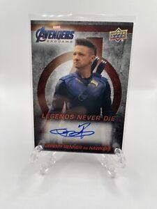 Avengers Endgame Upper Deck  Jeremy Renner Autograph LNDA-JR