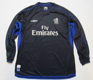 CHELSEA LONDON home LONG SLEEVE jersey shirt UMBRO The Blues 2002-04 men SIZE XL