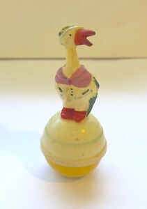 Vintage Celluloid Duck German Roly Poly Toy