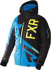FXR MAVERICK snowmobile jacket xl black blue hi vis