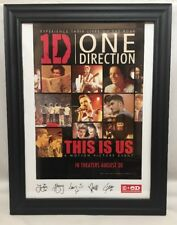 1D ONE DIRECTION This is Us Original Promo Movie Poster Signed Framed
