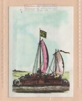 Vehicle Powered By Sails on Holland Beach In 1600s  Vintage Trade Ad Card