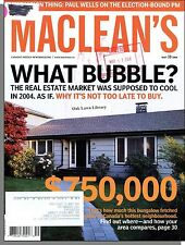 Maclean's - 2004, May 10 - What Real Estate Market Bubble?