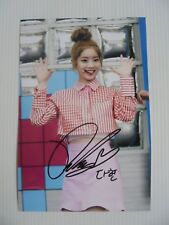 Twice Dahyun 4x6 Photo Korean autograph signed USA Seller KPOP B8