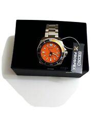 NEW!  Seiko Prospex Samurai Orange Dial Automatic Men's Watch SRPC07