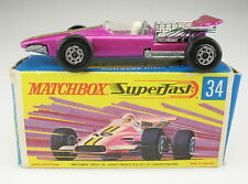 MATCHBOX SUPERFAST no 34-Modulo 1 RACING CAR-IN SCATOLA ORIGINALE-LESNEY-with BOX