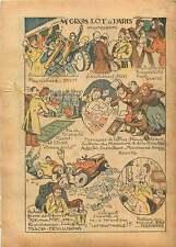 Jeux Loto Loterie Nationale Paris Arc de Triomphe Auto France 1933 ILLUSTRATION