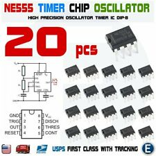 20pcs NE555P NE555 IC 555 High Precision Oscillator Timer DIP-8 Chip