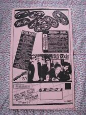 org Mabuhay Gardens Month Schedule #167 punk flyer 8.5x14 kbd hardcore vintage