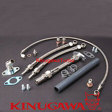 Turbo Oil & Water Line TOYOTA 1JZ-GTE 2JZ-GTE w/ Kinugawa TD05 TD06 Turbocharger