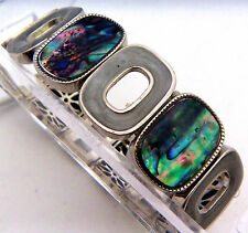 "PAUA Shell abalone Nature's 1 Stretch Bracelet 7/8""W Wheeler Mfg. STB 004"