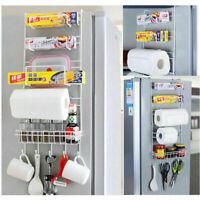 Over Door Freezer Storage Rack Home Kitchen Spice Organizer Basket Shelf Pantry