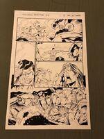 Stormwatch #36 original art ACTION PAGE 1996 Wildcats Wetworks Gen13 IMAGE
