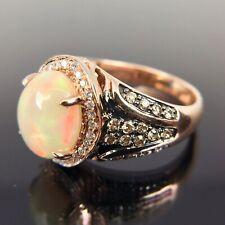 Le Vian 14k Rose Gold Diamond & Opal Halo Ring