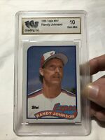 1989 Topps Randy Johnson Baseball Card ROOKIE RC #647 FSG 10 GEM MINT Expos