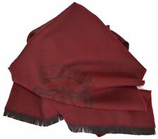 New Gucci 344993 Men's 100% Wool Burgundy Red Hysteria Logo Scarf Muffler