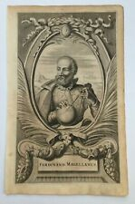 FERDINAND MAGELLAN 1671 MONTANUS  RARE ANTIQUE ENGRAVED PLATE 17TH CENTURY