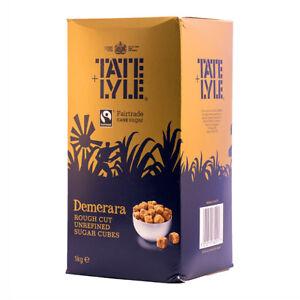 """Tate & Lyle Brown Demerara """"Fairtrade"""" Sugar Cubes 1 x 1kg"""
