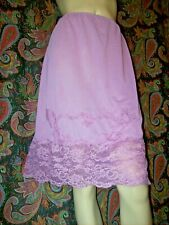 Vintage Kayser Purple Silky Nylon Tricot Half Slip Lingerie M
