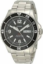 Fossil Men's FS5687 FB-02 48mm Black Dial Stainless Steel Watch