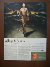 VTG 1944 Original Magazine Ad Shell Gas Gasoline A Prayer Is Answered Soldier