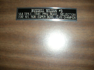 RUSSELL WILSON (SEAHAWKS) NAMEPLATE FOR SIGNED BALL CASE/JERSEY CASE/PHOTO