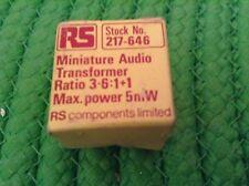 RS 217 646 transformador de audio en miniatura 3.6: 1+1 5 mV