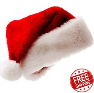 Christmas Hat Plush Thicken Cotton Adult Christmas Hat Merry Christmas Festival.