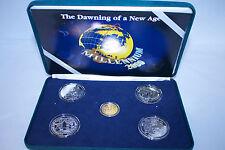 1997-2000 Kiribati Samoa Millennium 2000 Coin Set New Age Gold Two Part