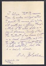 General Nikolai Golovin Signed Statement Russia Sociology of War - 1933