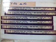 n°e603 lot 6 microfiche mercedes t124 a partir 10/1992