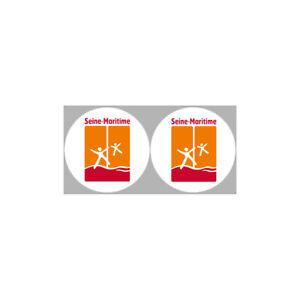 Autocollants : stickers autocollants departement de la Seine Maritime Pack 1 (2