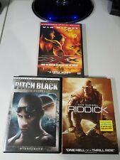 Vin Diesel Dvd Movie Lot: Riddick, Pitch Black, Xxx