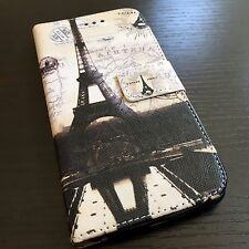 iPhone 6+ / 6S+ Plus Credit Card Wallet Pouch Holder Case Paris Eiffel Tower Map