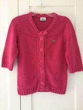 LACOSTE CHUNKY KNIT CARDIGAN JACKET Size 38 / UK 10