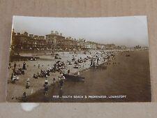 Postcard South Beach & Promenade Lowestoft RP unposted .XC3