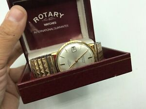 Fantastic Antique Vintage 9ct Rolled Gold Rotary Date 21j Automatic Wristwatch