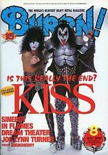 Burrn! Heavy Metal Magazine August 2000 Japan Kiss Gene Simmons Paul Stanley