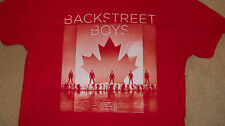 (2-Sided) BACKSTREET BOYS Canada Exclusive Tour T-Shirt Maple Leaf Concert LARGE