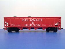 """HO Scale 42' """"Delaware & Hudson"""" 12312 4-bay Open Hopper Freight Train W/Coal"""