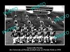 OLD HISTORIC PHOTO OF GAINESVILLE, FLORDIA UNIVERSITY GATORS FOOTBALL TEAM c1950