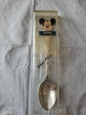 Vintage Souvenir Collector Spoon Demi Tasse Mickey Mouse Silver Plated Derek
