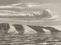 """""""Die europäischen Polarländer"""", Die Insel Jan Mayen, Illustr. um 1880, Holzst."""