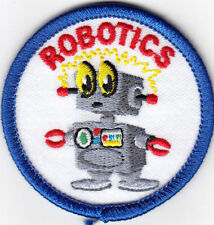 """""""ROBOTICS"""" Iron On Pattch Research School Learning Robot"""
