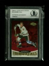 Bobby Hull Upper Deck Heroes IMMORTALS Auto! BAS Beckett Authentic! Black Hawks!